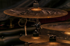 Crash cymbal. The drums for rock and progressive music. Gold Stock Photo