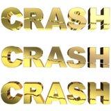crash d'or illustration stock