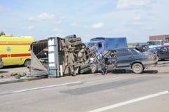 Crash d'accidents de véhicule Image libre de droits