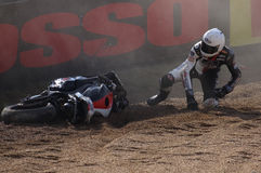 Crash d'Alexandre Lundh Kyalami 2010 Photos libres de droits