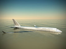 Crash de Boeing illustration stock