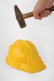 Crash de casque Photographie stock libre de droits