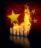 Crash de la Chine Ecomy illustration de vecteur