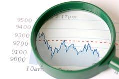 Crash de marché boursier images stock