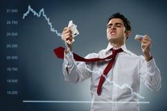 Crash de marché boursier Images libres de droits