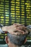 Crash de marché boursier en Chine Photos libres de droits