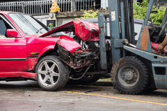Crash de véhicule Photo libre de droits