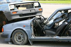 crash de véhicules Image libre de droits