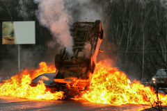 Crash de véhicule Photographie stock libre de droits