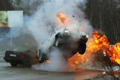 Crash de véhicule Photos libres de droits