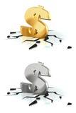 Crash of the Dollar vector illustration