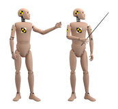 Crash dummies III. Crash dummies in a some poses with clipping paths Vector Illustration