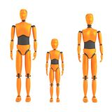 Crash dummies. Realistic 3d render of crash dummies Stock Images