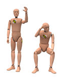 Crash Test Dummies. Isolated on white. Clipping paths Vector Illustration
