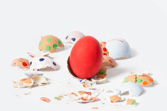 Crash Easter eggs Stock Photos
