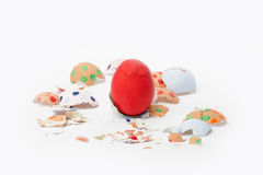 Crash Easter eggs Royalty Free Stock Photo