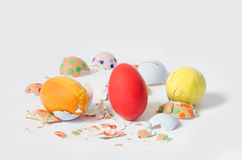 Crash Easter eggs Royalty Free Stock Photos