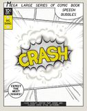 Crash. Explosion in comic style with lettering Stock Photos