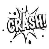 Crash explosion icon, simple style Stock Photography