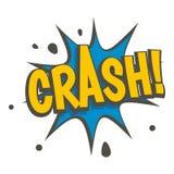 Crash, explosion speech bubble icon  Stock Photography