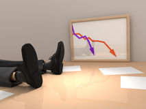 Crash. Financial crash in the office Royalty Free Stock Image