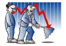 crash financier Images libres de droits