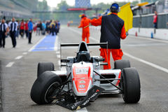 Crash in Formula Abarth in Monza race track Stock Photography