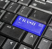 crash guzik Zdjęcie Royalty Free