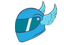 Crash helmet with wings Stock Photography