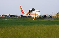 Crash of Kalitta-Air Boeing 747 stock photo