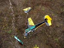 Crash model aircraft. Crash training piloted model aircraft Royalty Free Stock Photos