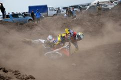Crash motocross rider Stock Photo