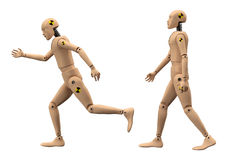 Crash Test Dummies. Isolated with clipping paths stock illustration