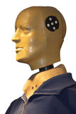 Crash Test Dummy. Dummy on the accident attempt in the car industry Royalty Free Stock Photos