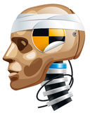 Crash test dummy. Man head. Vector Illustration Stock Images