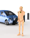 Crash Test Dummy. After the crash vector illustration