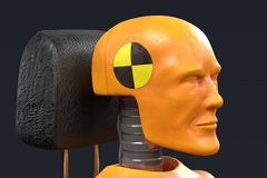 Crash test dummy. Realistic 3d render of crash test dummy Royalty Free Stock Images