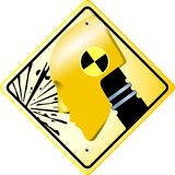 Crash test sign Royalty Free Stock Image
