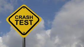 Crash test stock video