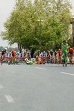 Crash at the Tour of Turkey in Istanbul, 2015. On 03.05.2015 Davide Rebellin crashed at the Tour of Turkey in Istanbul because of a dog ran on the road. Rebellin royalty free stock image
