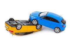 Crash toy cars Stock Photos