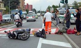 Crash urbain Photographie stock