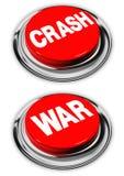 Crash and war button Stock Image