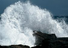 Crash Wave. Northern shore of Brittany, France royalty free stock photography