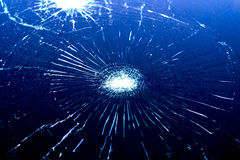 Crash windshield glass of car,the broken Royalty Free Stock Photos