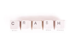 Crash word written with computer buttons Royalty Free Stock Image