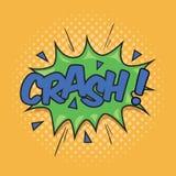 CRASH! Wording Sound Effect. For Comic Speech Bubble Royalty Free Stock Photo