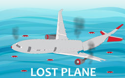 Crashed Airliner plane Stock Image