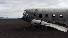 Crashed airplane Stock Image