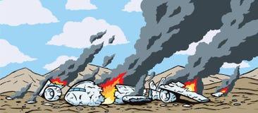 Crashed Airplane Stock Photo